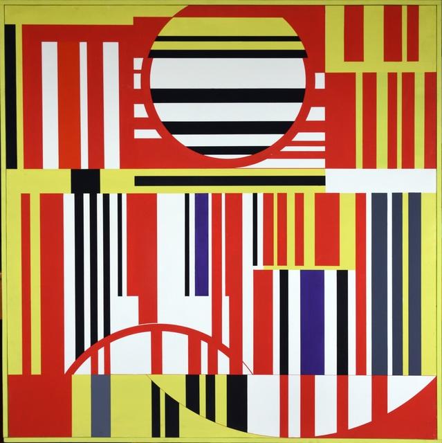 Günter Fruhtrunk, 'Gelb Rot Violett', 1961, Painting, Casein on hardboard, Galerie Gimpel & Müller