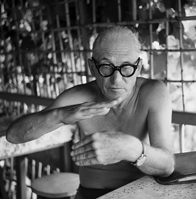 , 'Le Corbusier at his holiday hut, Roquebrune-Cap-Martin,' 1953, Suite 59 Gallery
