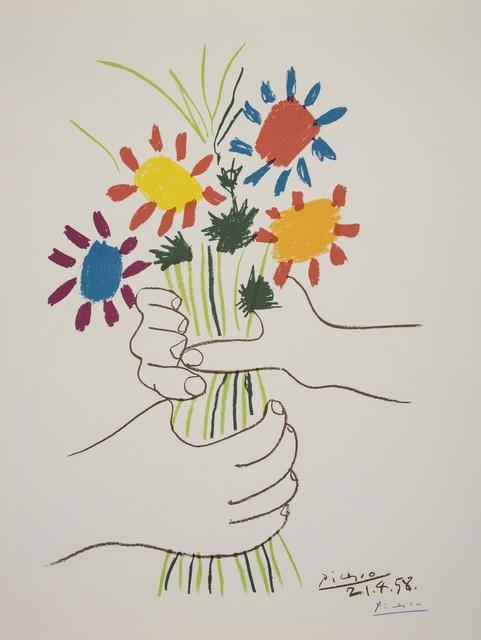 Pablo Picasso, 'Bouquet de Fleurs (Czwiklitzer 147)', 1958, Print, Lithograph printed in colours, Forum Auctions