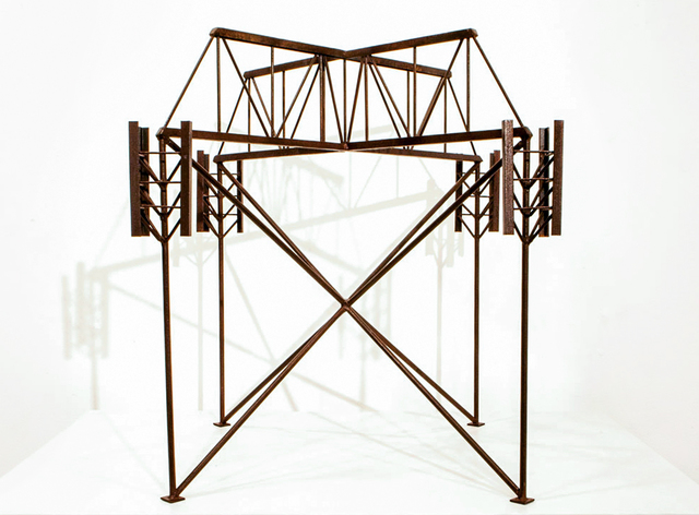 , 'Abstract Model Series #7 (Rusted structure with simple bridge trussing),' 2015, OTA Contemporary
