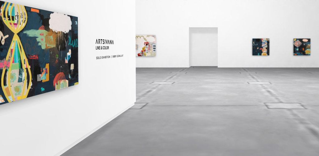 Visit www.Artsivana.com to view the interactive virtual reality Line & Color Art Exhibition.