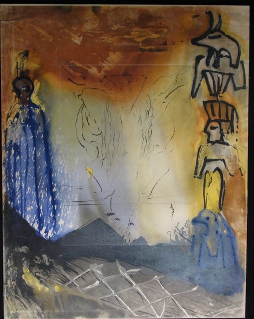 Salvador Dalí, 'Mosses & Monotheism Nightmare of Moses ', 1975, Print, Etching on Soft Glove Sheepskin, Fine Art Acquisitions Dali