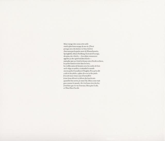 , 'Jack Kerouac, La Nuit Est Ma Femme (70),' 2017, Gallery Joe