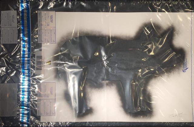 Cartrain, 'Pig in a Police Evidence Bag ', 2017, Print, Spray painted stencil in a police evidence bag, Imitate Modern