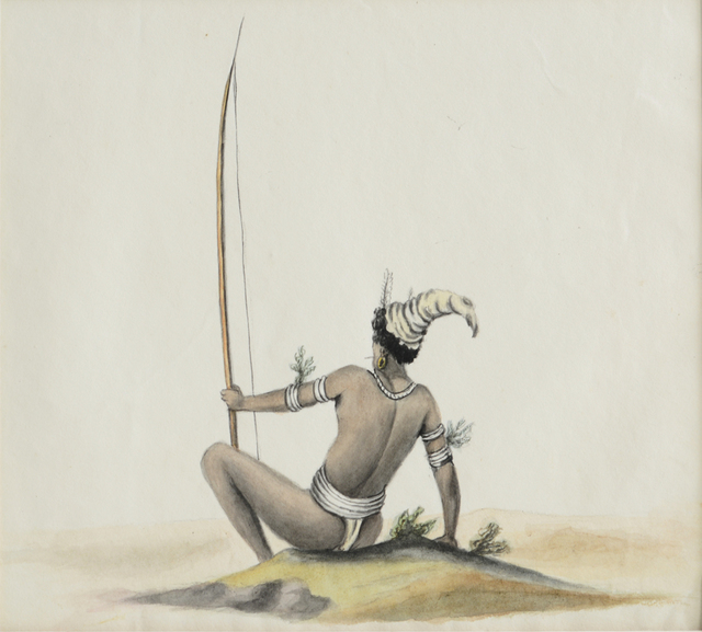 , 'Tribal warrior,' , Swaraj Art Archive