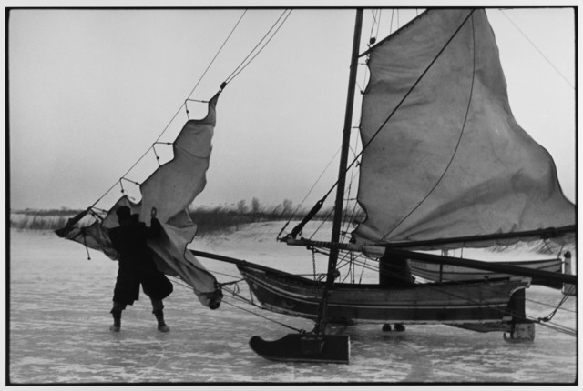 , 'Rigging ice boat sails on the Yzer Meer Holland ,' 1964, Gallery 270