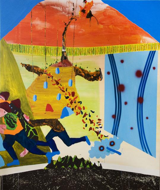 , 'Quatre Joueurs de Rugby sans Ballon,' 2013, Galerie Dominique Bouffard
