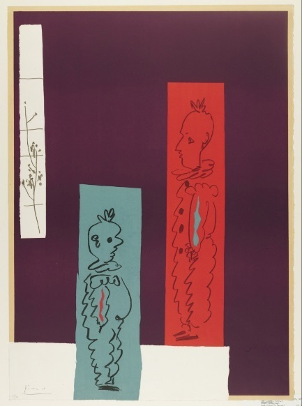 Pablo Picasso, 'Deux Clowns', 1954, Print, Litography on paper. Ed.7/50, Odalys