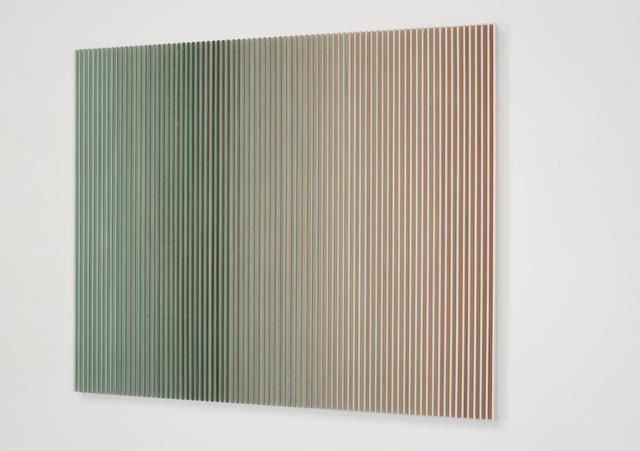 Yu Yang  于洋 (b. 1979), '融-青绿山隐 Fusion-Dark Green Mountain Landscape', 2017, Mixed Media, Ink on Paper, Wood, Art Granary