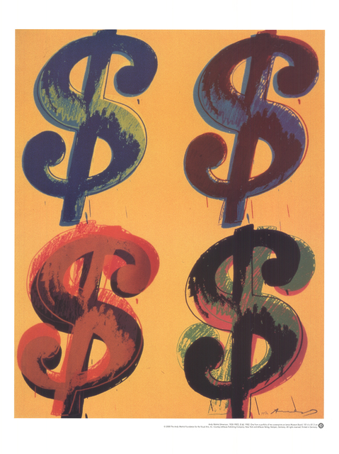 Andy Warhol, 'Four Dollar Sign', 2000, Ephemera or Merchandise, Offset Lithograph, ArtWise