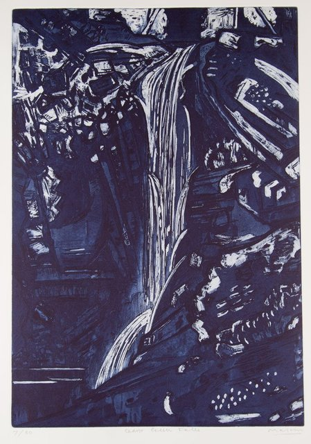 Jeffrey Makin, 'Cedar Creek Falls', 2004, Print, Etching, Angela Tandori Fine Art