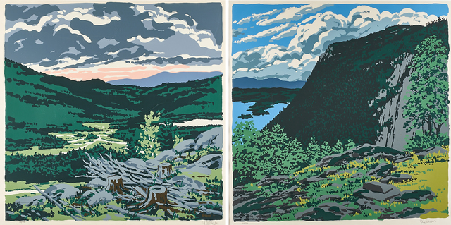 Neil G. Welliver, 'Two works of art: Maiden's Cliff, Brigg's Meadow, 1973 from Landscapes', 1987, Rago