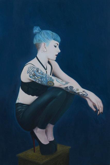 , 'Girl with Blue hair,' 2018, Albemarle Gallery | Pontone Gallery