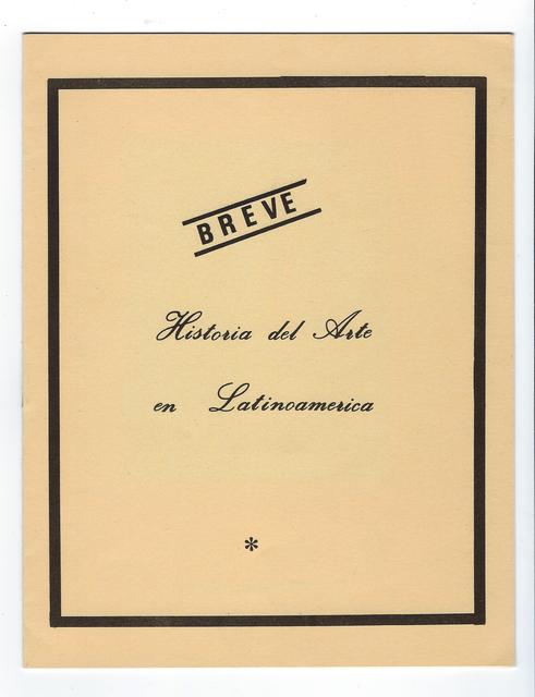 , 'Breve Historia del Arte en Latinoamerica,' 1986, Bergamin & Gomide