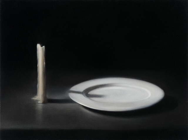 , 'Extinguished Candle With Plate,' 2009, Flowers