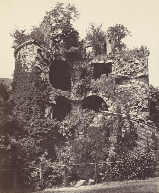 Adolphe Braun, 'The Exploded Tower, Heidelberg Castle', ca. 1865, National Gallery of Art, Washington, D.C.