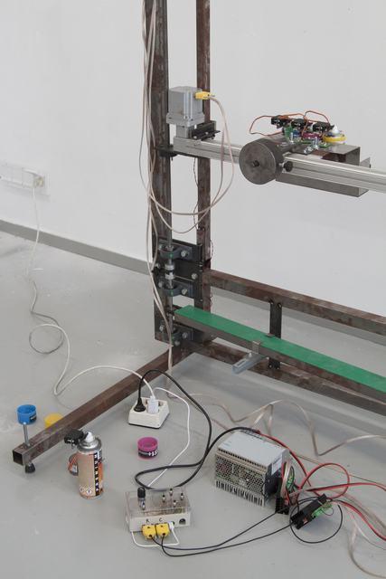 , 'Spraypaintprinter (work in progress),' 2016, Rijksakademie van beeldende kunsten