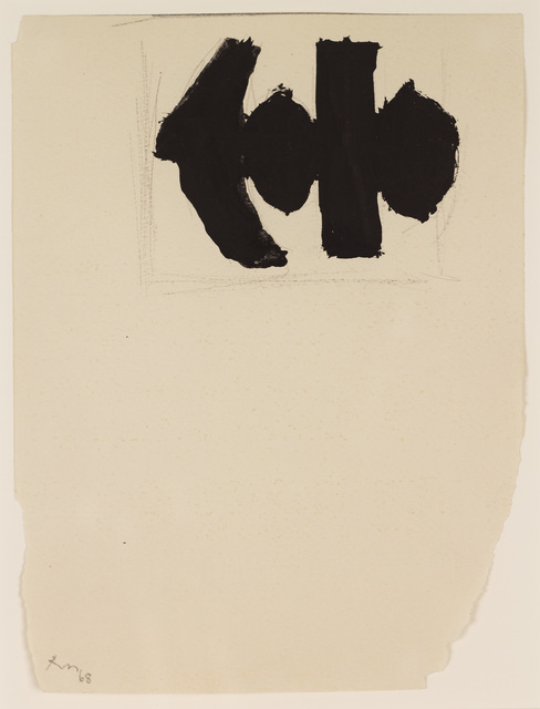 Robert Motherwell, 'Study for Elegy to the Spanish Republic No. 110B', 1968, Bernard Jacobson Gallery