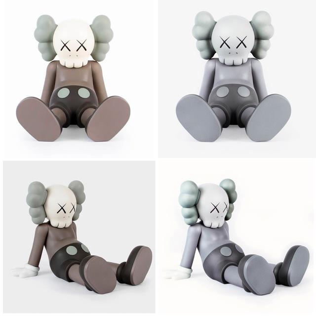 KAWS, 'KAWS Taipei Holiday Companion set of 2 (grey brown KAWS companions) ', 2019, Sculpture, Painted cast resin vinyl figures., Lot 180