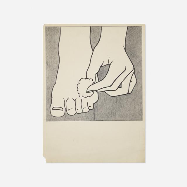 Roy Lichtenstein, 'Foot Medication poster', 1963, Wright