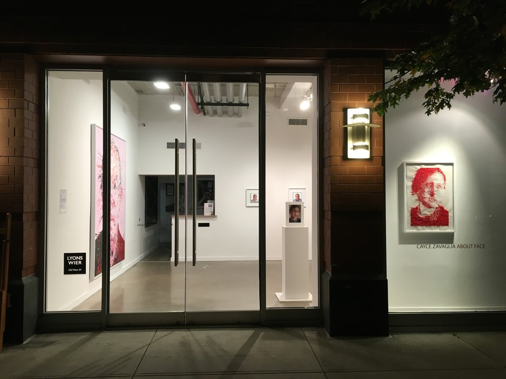 """About-Face"" gallery installation"