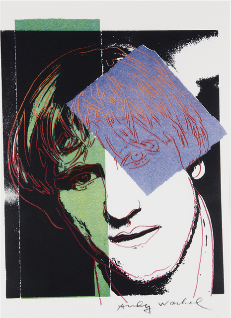 Andy Warhol, 'Gérard Depardieu', 1986, Print, Colored serigraph on Arches paper, Bertolami Fine Arts