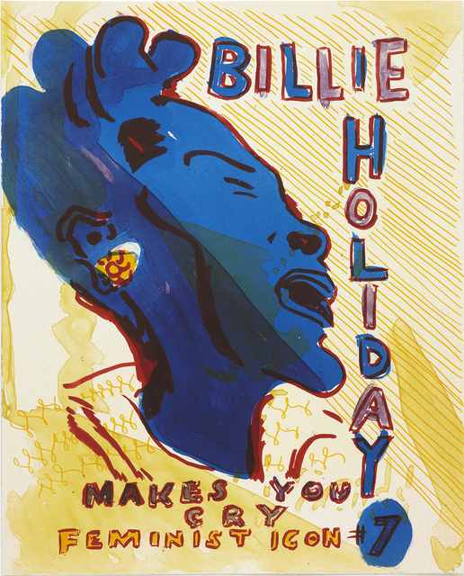 , 'Billie Holiday from Feminist Icons,' 2011, Paupers Press