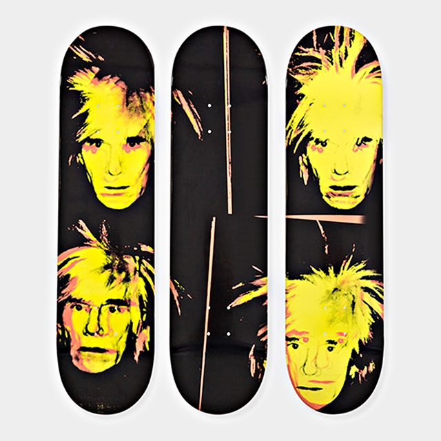 , 'Self Portrait  (Set of Three (3) Limited Edition Skate Decks) - Brand New with hanging mounts,' 2015, Alpha 137 Gallery