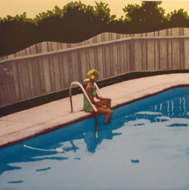 , 'Set of Four: The Swimming Pool Etchings (Green Suit Bather),' 2006, Paulson Fontaine Press