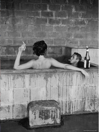 , 'Steve McQueen and his wife, Neile Adams, in sulphur Bath, Big Sur, CA 1963,' 1963, Michael Hoppen Gallery