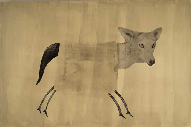 , 'Coyote with Yellow,' 2018, Craig Krull Gallery