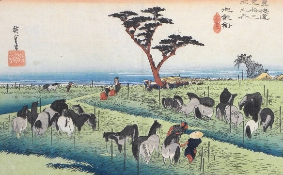 , 'Fifty-three Stations of the Tokaido: Chiryu, Early Summer Horse Fair,' , Scholten Japanese Art