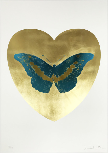 Damien Hirst, 'I Love You - Gold Leaf/Turquoise/Oriental Gold', 2015, Hamilton-Selway Fine Art