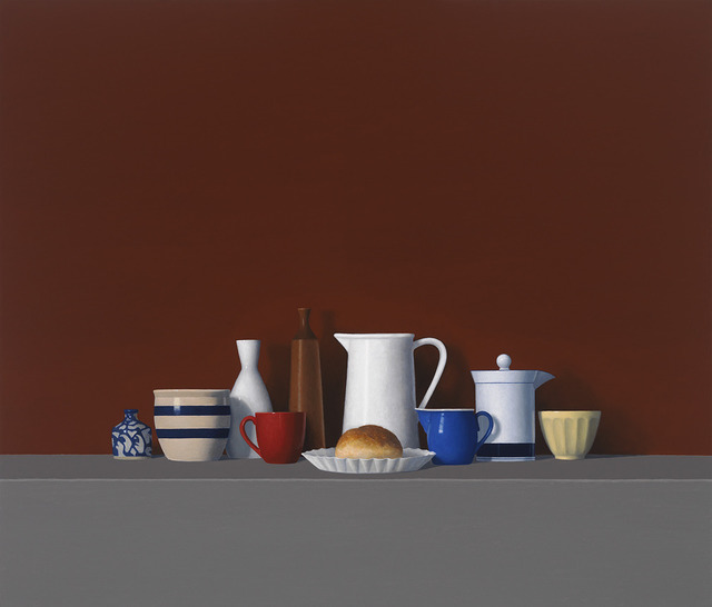 David Harrison, 'Large Still Life with Roll (#178)', 2010, Painting, Oil on canvas, Clark Gallery