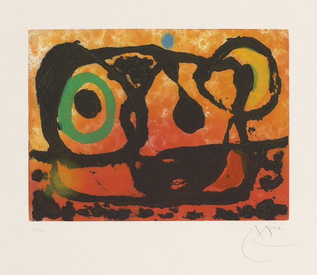 Joan Miró, 'Tête au soleil couchant', 1967, Christie's
