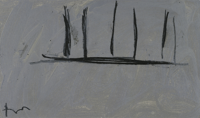 Robert Motherwell, 'Open Study in Charcoal on Grey, #3', 1974, Painting, Acrylic and charcoal on canvasboard, William Shearburn Gallery