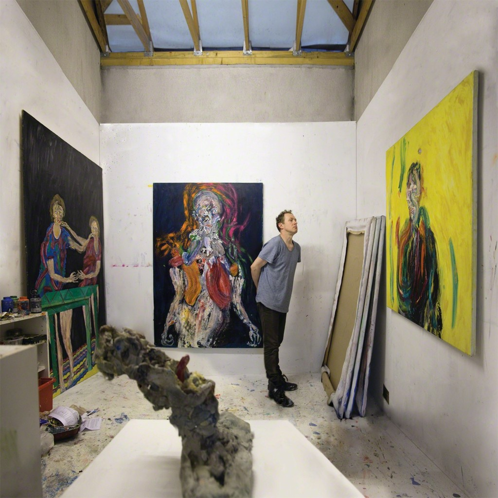 Andrew Litten in his Cornwall studio, 2018