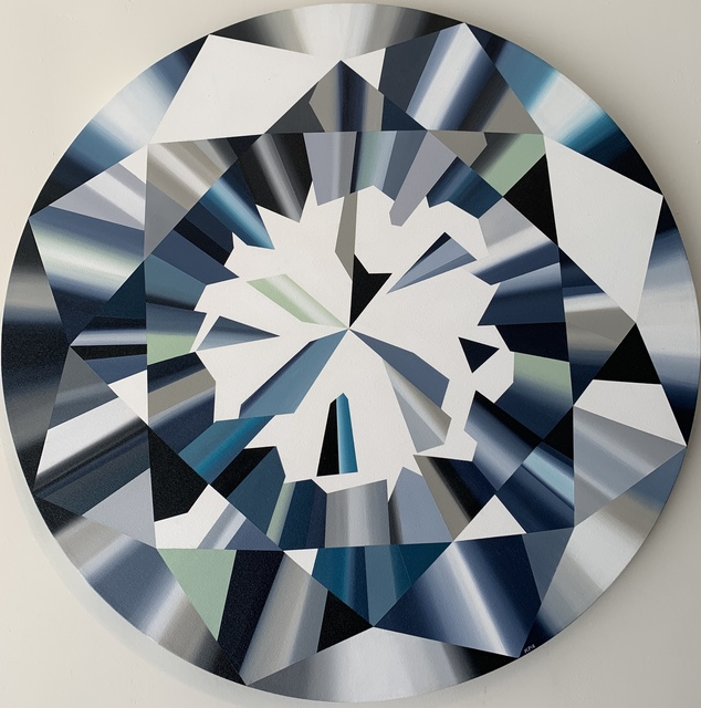 """Kurt Pio, '""""Teal Round Diamond - M""""', 2019, Parlor Gallery"""