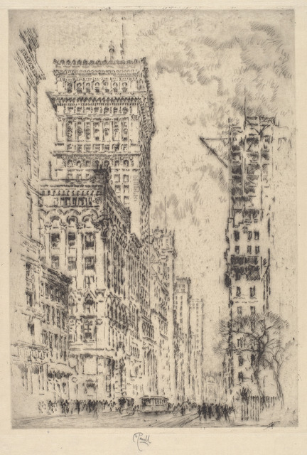 Joseph Pennell, 'The Golden Cornice, I', 1904, Print, Etching, National Gallery of Art, Washington, D.C.
