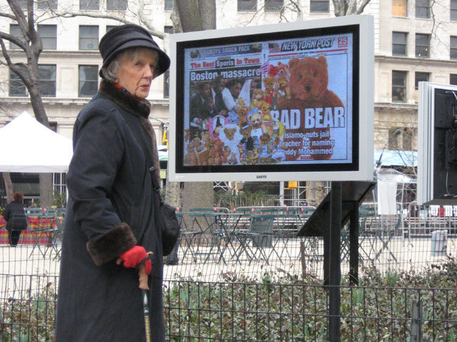 , 'Online Newspapers: New York Post,' 2008, Madison Square Park