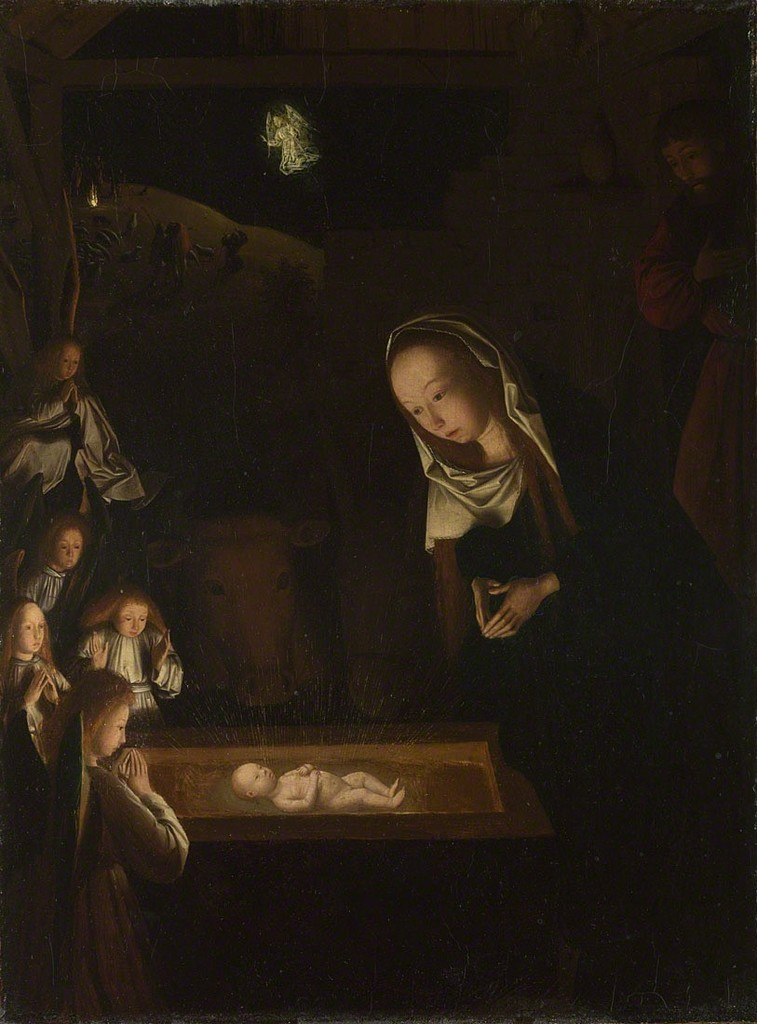 Geertgen tot Sint Jans, 'Nativity at Night ,' ca. 1490, The National Gallery, London
