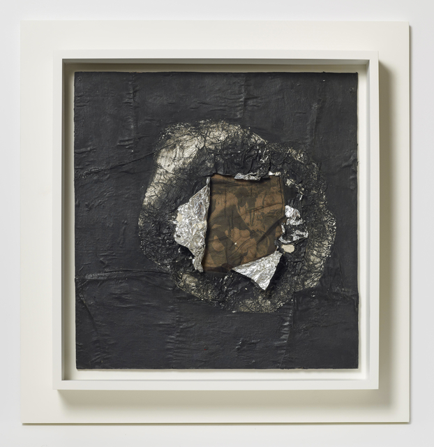 Jack Whitten, 'Birmingham', 1964, Painting, Aluminum foil, newsprint, stocking, and oil on plywood, Brooklyn Museum