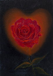 Rose with a Heart Glow