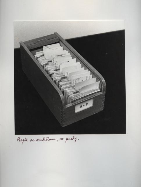 , 'In Alphabetical Order,' 1978, WALDEN