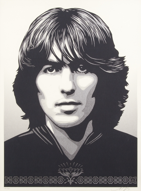 Shepard Fairey (OBEY), 'George Harrison', 2014, Julien's Auctions