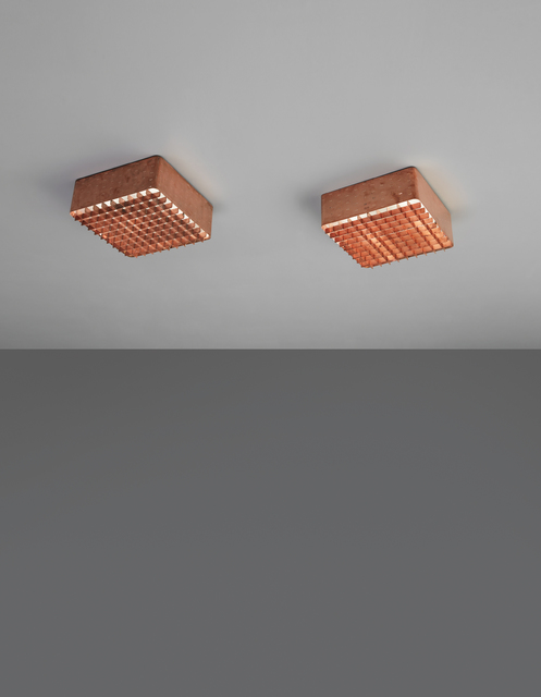 Paavo Tynell, 'Pair of ceiling lights, model no. 9068', 1950s, Phillips