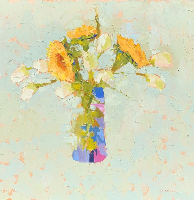 , 'Sunflowers and Tulips,' 2019, Shain Gallery