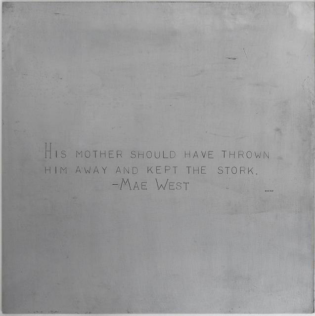 , 'Mae West, after Carl Andre,' , Robert Berman Gallery