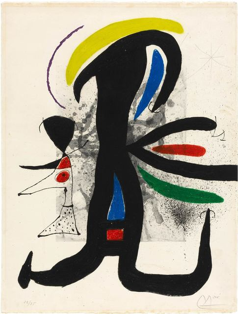 Joan Miró, 'UNE TELLE ET SON PETIT MARI (D. 540)', 1970, Doyle