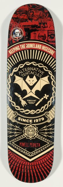 Shepard Fairey, 'The Alternative Tentacles', 2013, Other, Screenprint in colors on skate deck, Heritage Auctions